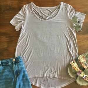 American Eagle Cross Front Soft & Sexy T-Shirt